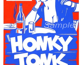 Vintage Honky Tonk Girl Movie Poster Print