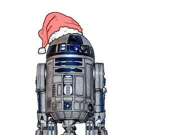 R2 Xmas Post Card