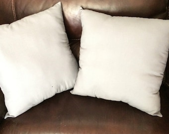 Grey cotton throw pillows