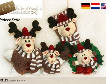 Reindeer Serie - 4x Crochet Pattern