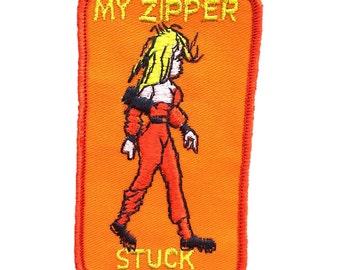 "Vintage ""My Zipper Stuck"" Patch"