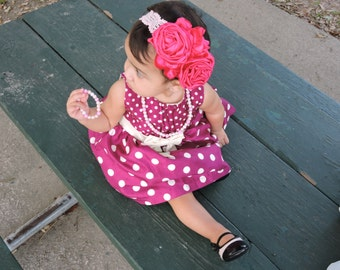 Hand made flower head band.