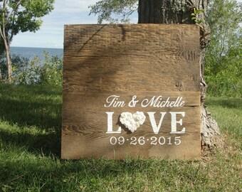 Barn wood Wedding Guest Sign/ Rustic Wedding Guest Book Alternative/  Rustic Wedding Decor/ Wedding Wood Guest Book