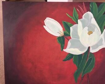 White Magnolia Wall Art