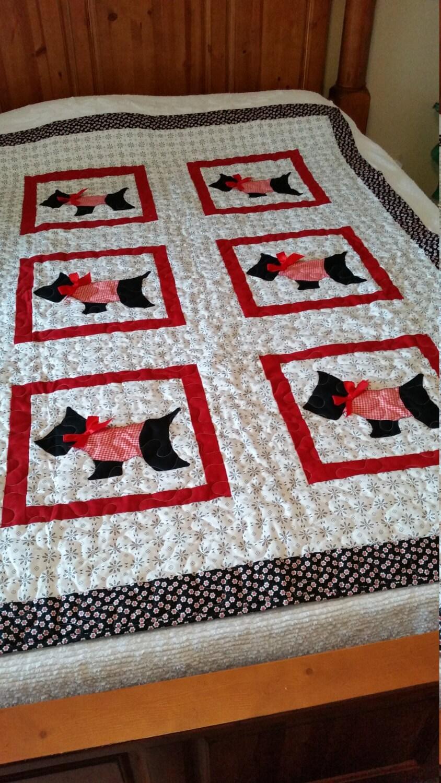 Quilt Pattern For Scottie Dog : SCOTTY DOG QUILT