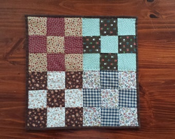 Quilted Tabletopper Mini Quilt