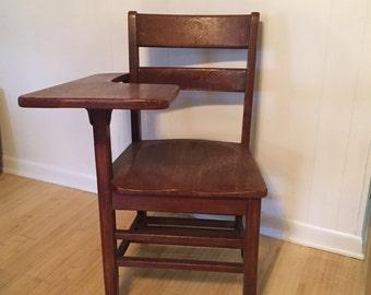 Antique wood school desk