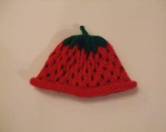 Strawberry hat for newborn shoot