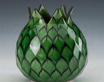 Green Artichoke Vase