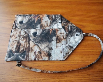 Pen roll wolf camouflage cotton fabric