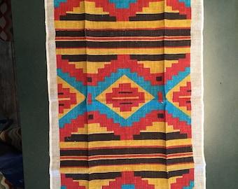 Tea towel Aztec Navajo Native American Print South Western Vintage