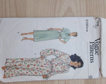 Vogue dress pattern size 14