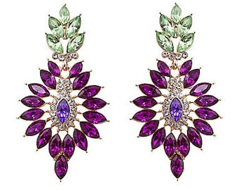 High Quality Goeometric Gem earrings