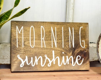 Morning Sunshine Rustic Wood Sign | Rustic Home Decor | Farmhouse Decor | Cottage Home Decor | Wood Sign | Country Home | Wall Hanging