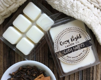 Cozy Nights Soy Wax Melts | Tarts | Clamshell Mold