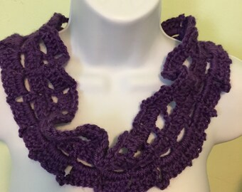 Rich purple lace collar (imagine this around your neck)