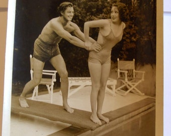 Vintage Photo Johnny Weissmuller and Lupe Velez