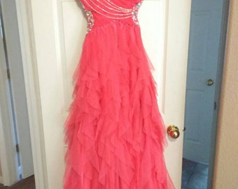 Pink Formal Dress with crystals