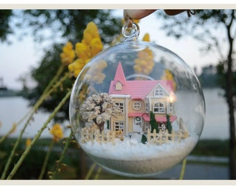 Miniature Model of House DIY Kit Nice Forest Dream House Glass New Present