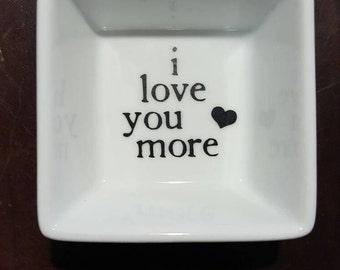Personalized Wedding Jewelry Dish Ring Dish Jewelry Holder Porcelain Dish