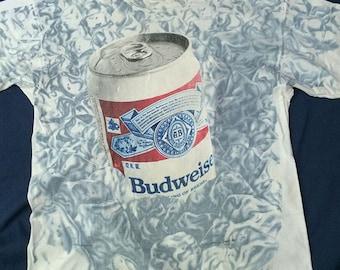 Vintage Budweiser Beer T-shirt Full Over Print Size XL