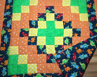Quilted baby blanket or lap blanket