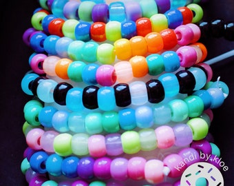 10 Glow In The Dark Kandi Bracelet Bundle