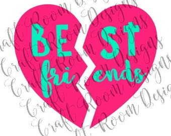 Best Friends Heart Digital Design