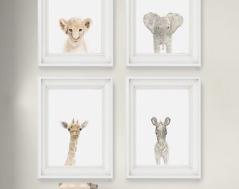 Safari Nursery Prints Set of 4