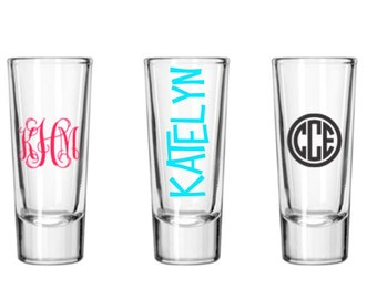 Monogrammed Shooters (glass)