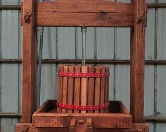 Solid Oak Apple Cider Press
