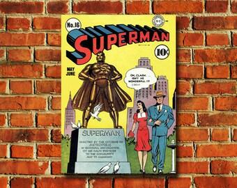Superman Comic Book Cover Poster - #0712