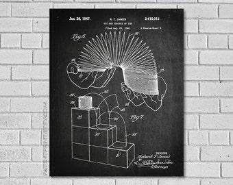 Slinky Patent Print - Slinky Patent - Slinky Poster - Slinky Art - Slinky Decor - Slinky Blueprint - Slinky Print - Patentprint