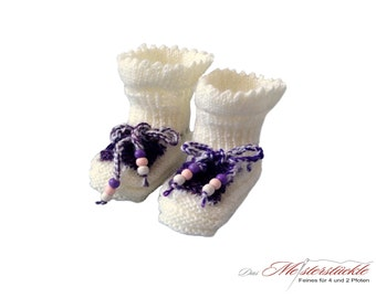 Knitted booties baby shoes baby socks