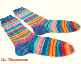 Unique! Socks hand-knitted size 38