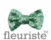 "Sequin Bow, Glitter Bow, Sparkle Bows, Fabric Bows, diy Bows, DIY Hair Bows, Soft Bows, Wholesale Bows, Diy Headband, 3"" Mint"