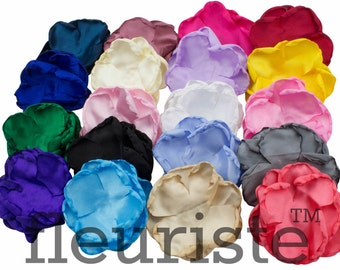 "4 Layers Singed Flower 3.5"", Chiffon Flower, Wholesale Flower, Fabric Flower, Headband Flower, Flower Embellishment, DIY Flower, Pick Colors"