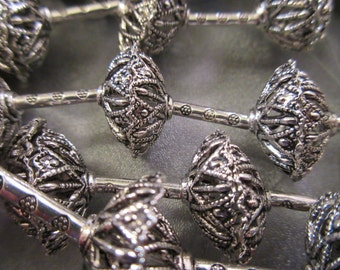 7 Pairs Caps / 6 Tubes Sliver Plated Bead