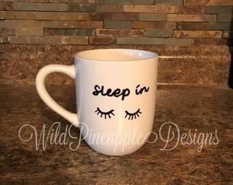 Sleep in coffee mug