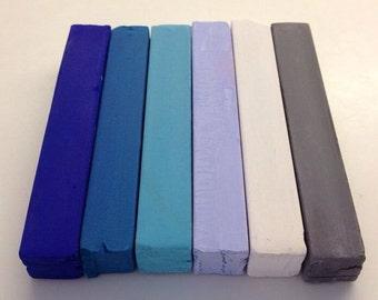 Feeling the Blues 6 Pack Hair Chalk - Salon Grade - Temporary - Non-Toxic