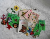 Vintage Appliques Lot - Vintage Sewing Notions -Choose your Set - Flowers, Misc., or Nautical - Ready to Ship