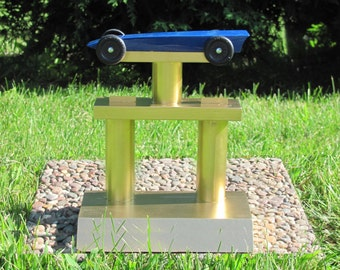 Pinewood Derby Car Trophy Display Stand, Boy Scout Cub Scout Derby Car Stand, Display Stand, BSA race