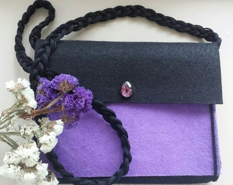 Hand bag, small bag, clutch of felt,evening bag