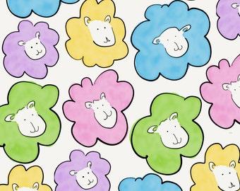 Multicoloured sheep card