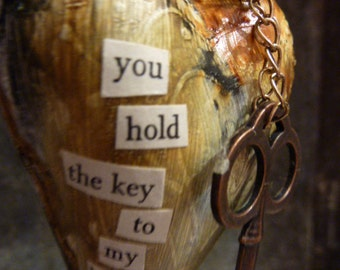 You hold the key to my heart..........a heart hanging