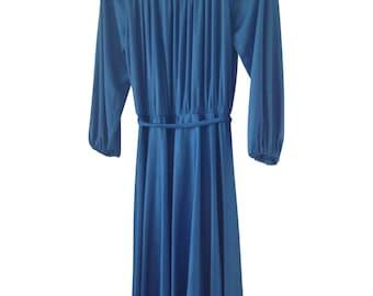 Vintage Dress, Blue, Medium