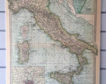 Cavallini Italy Vintage Hanging Map