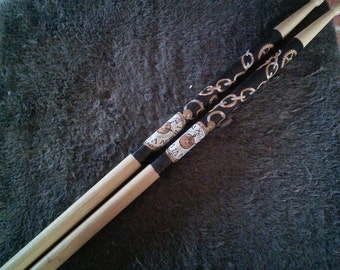 Steam Punk themed drum sticks