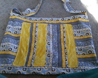 Yellow and grey Diasy Tote