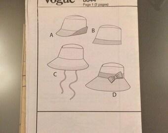 Vintage Vogue Hat Pattern 8844
